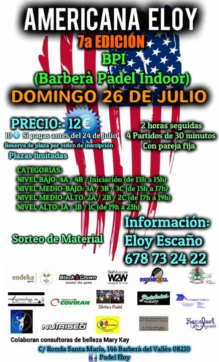 Torneo padel Americana Eloy Barbera del Valles