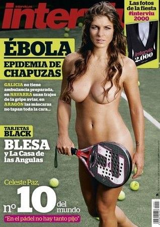Asombroso desnudo de Celeste Paz en Interviú
