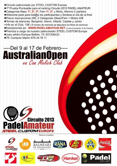 Australia Open de Padel en el Club Can Melich