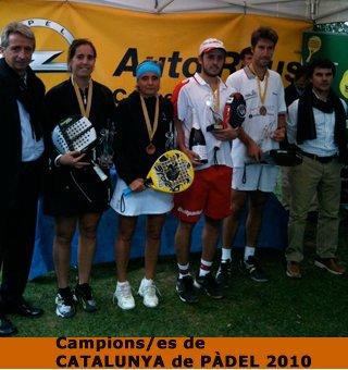 Bainad-Company y Gayoso-Sanz ganan el Absoluto de pádel de Catalunya