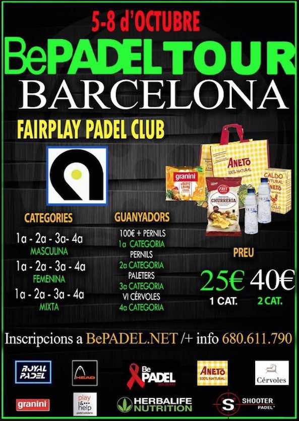 8a BePadel Tour Barcelona 2017