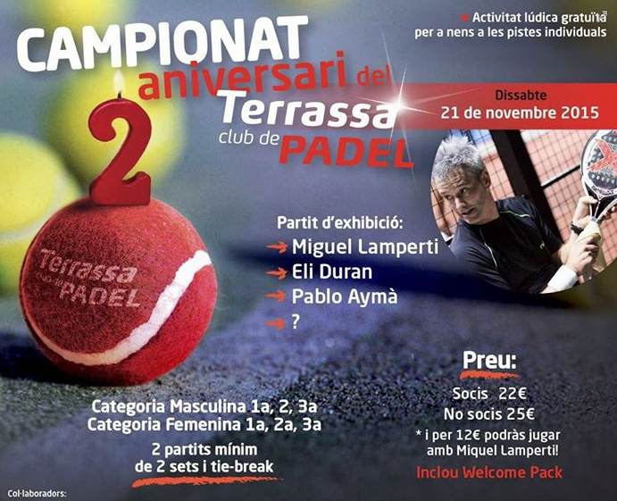 Campeonato aniversario Terrassa club de Padel