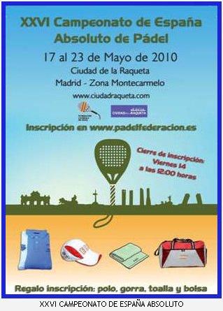 Campeonato de España absoluto de pádel 2010