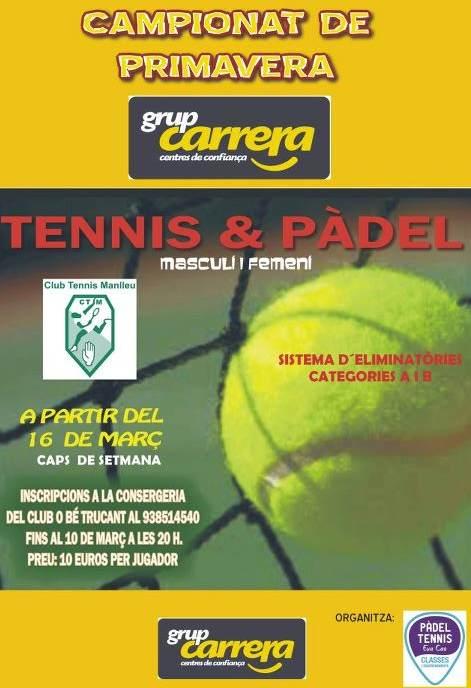 Campeonato de primavera de tennis y padel Grup Carrera