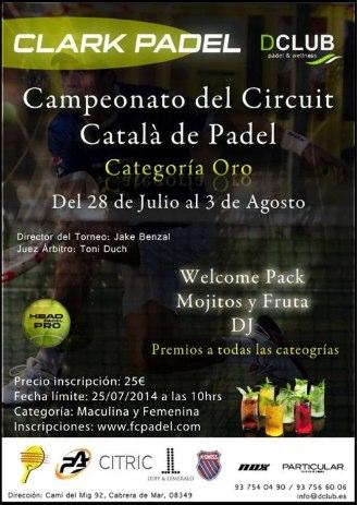 Campeonato del Circuit Catala de padel en Dclub