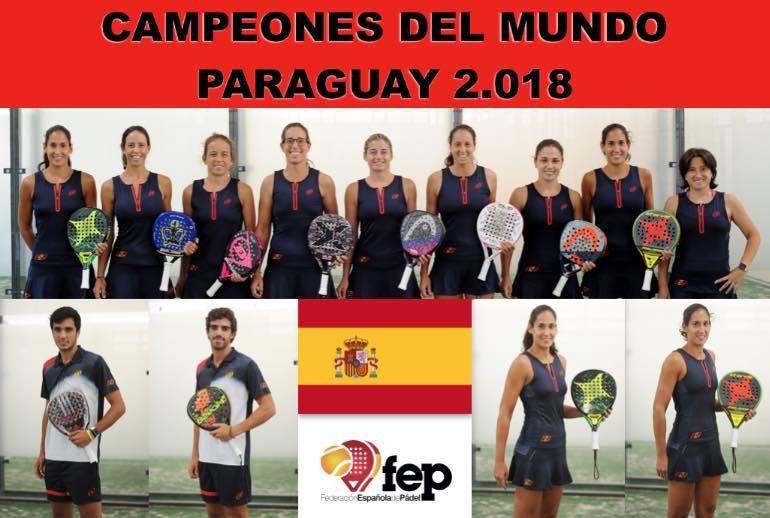 Campeones del mundial de padel Paraguay