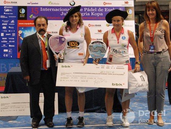 Carolina Navarro y Cecilia Reiter en el Padel Pro Tour Bilbao 2010