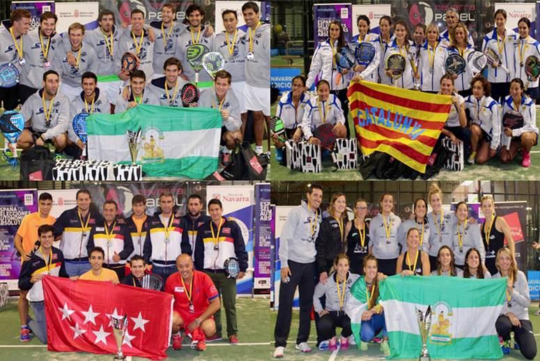 Catalunya y Andalucia campeones de España de Pádel Absoluto