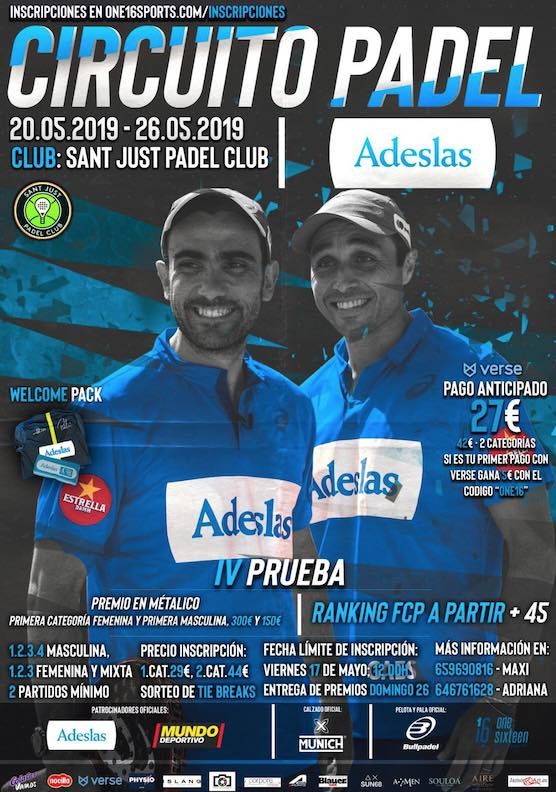 Circuito Adeslas 2019 en el Sant Just Padel Club