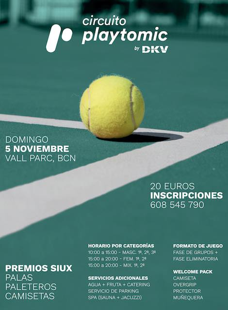 Circuito playtomic by dKV en el club Vall Parc