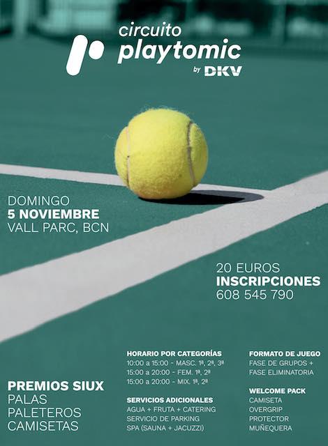 Circuito playtomic by dKV en el club Vall Parc