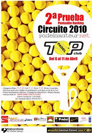 Circuito Padel Amateur en el PADEL TOP CLUB. 2a prueba