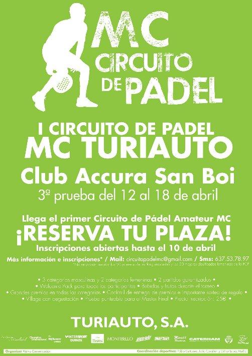 Circuito Padel MC Turiauto. 3a Prueba en Sant Boi