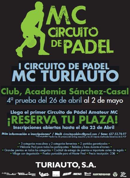 Circuito Padel MC Turiauto. 4a Prueba Academia Sanchez Casal
