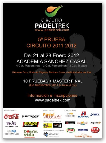 Circuito Padeltrek 2012 en la Academia Sanchez Casal