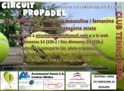 Circuito Propadel en el Club Tennis Piera