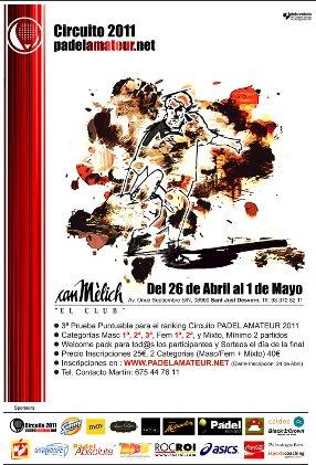 Circuito padelamateur 2011 en el club Can Melich