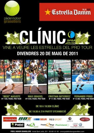Clinic de estrellas Pro Tour en el padel Indoor Granollers