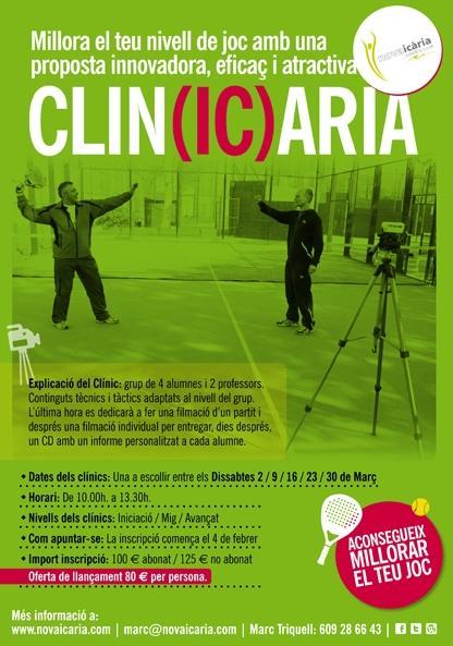 Clinic de padel Club Nova Icaria Esports Club