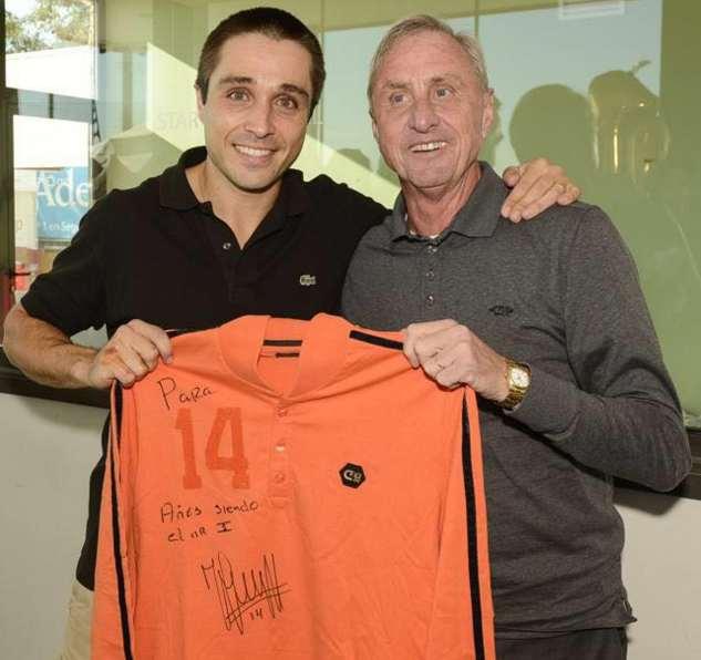 Cruyff y Fernando Belasteguín