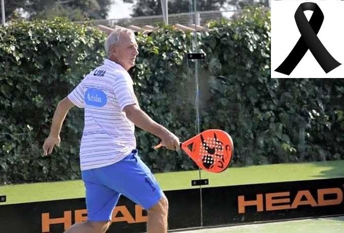 Cruyff jugando a pádel