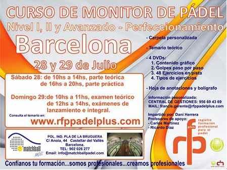 Curso de Monitor de padel en Castellar del Valles