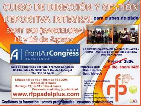 Curso de direccion y gestion deportiva en Barcelona padel