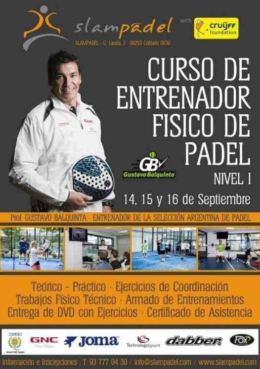 Curso de entrenador fisico de padel en Barcelona