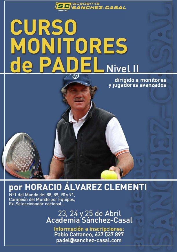 Curso de monitores de padel en la academia Sanchez Casal