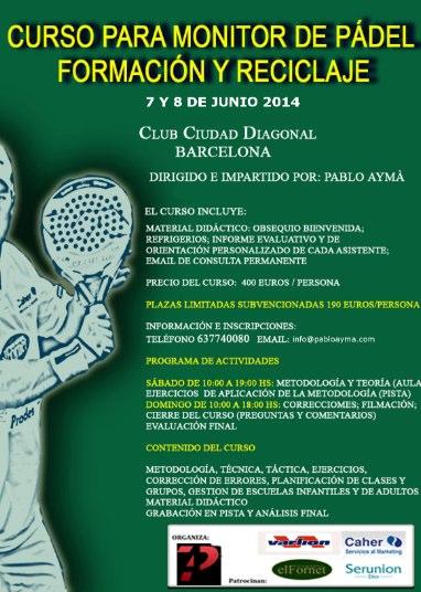 Curso para monitor de padel Formación-reciclaje Ciudad Diagonal junio 2014-reciclaje_Ciudad_Diagonal_junio_2014