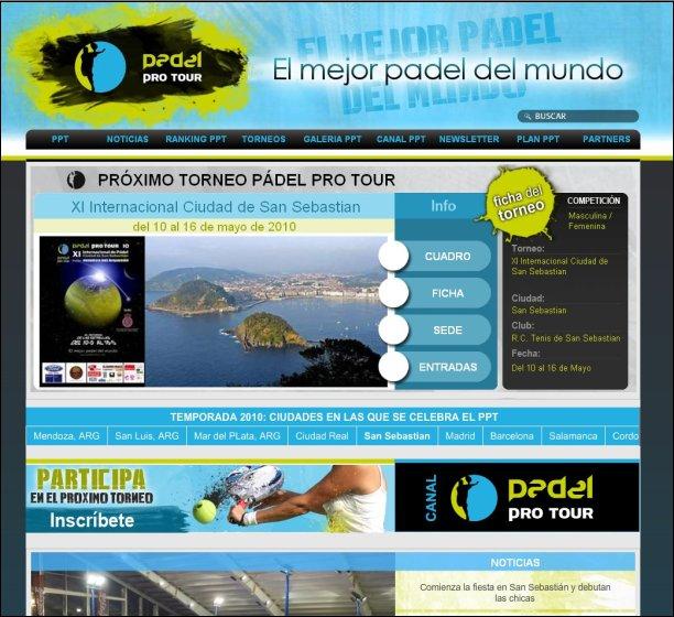 El Pádel Pro Tour renueva su web