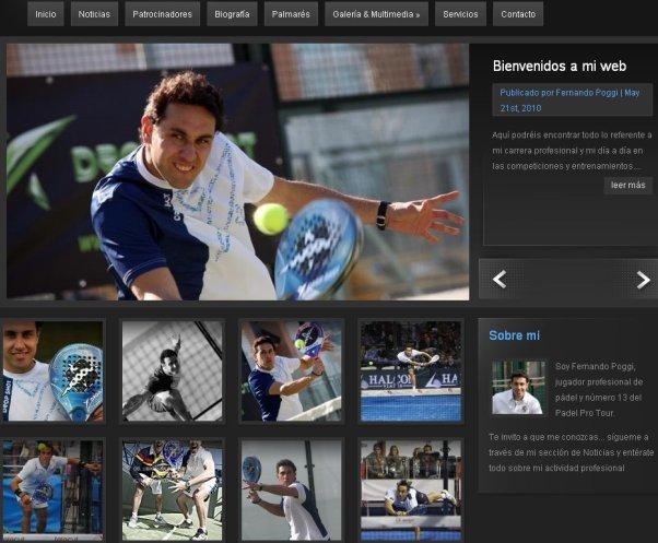 El jugador de padel profesional Fernando Poggi lanza su página web
