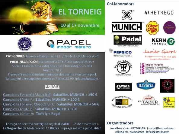El torneo Padel Indoor Mataro