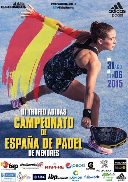En directo el Campeonato España de pádel de Menores 2015