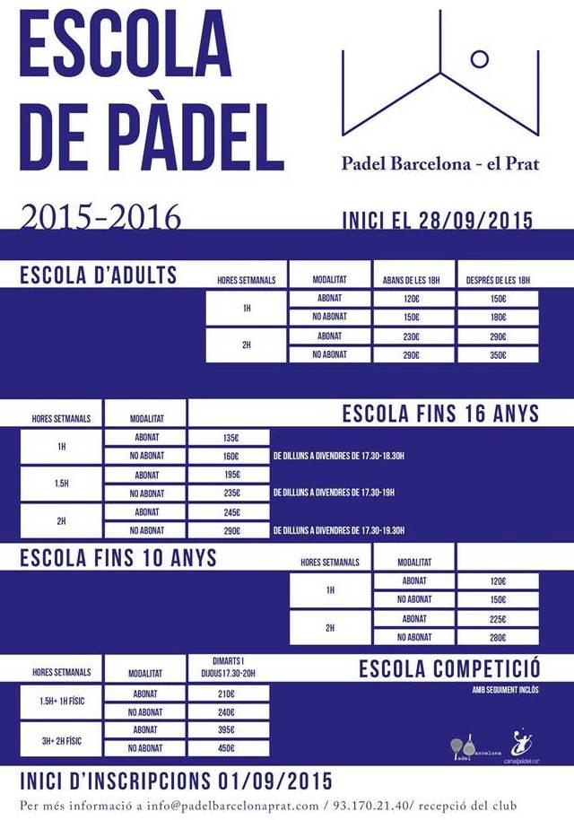 Escola de Padel en PadelBarcelona - El Prat-_El_Prat