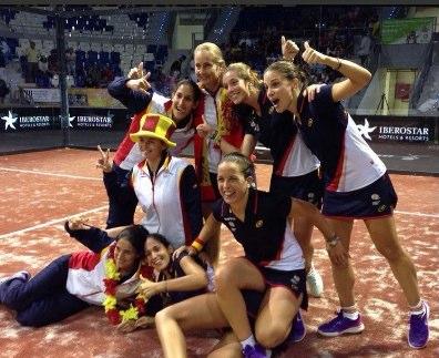 España en chicas gana el mundial de pádel 2014