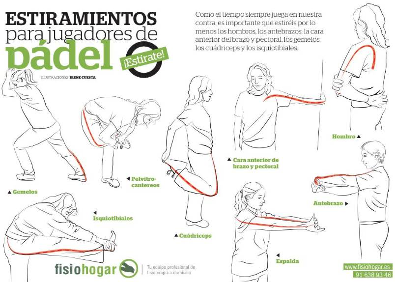Estiramientos padel - http://www.fisiohogar.es/