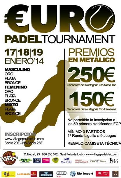 Euro Padel Tournament en el Village Padel Club