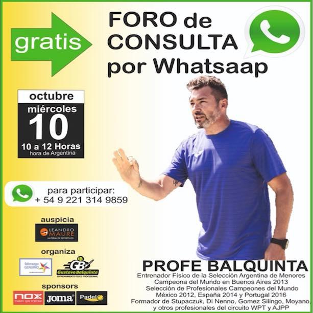 Foro consulta con Gustavo Balquinta