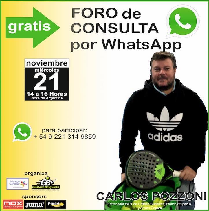Foro consulta con Carlos Pozzoni