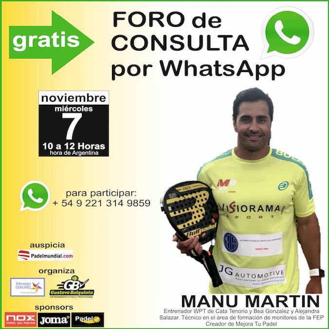 Foro consulta con Manu Martin