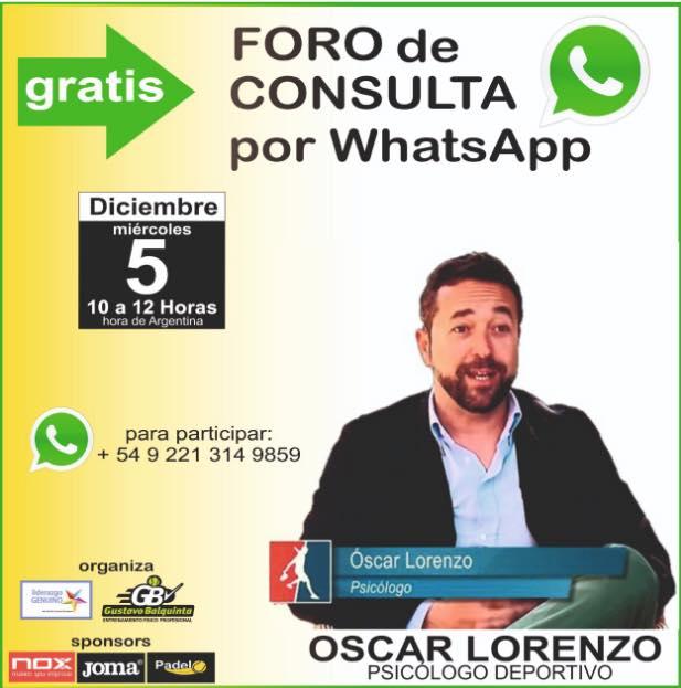 Foro consulta con Oscar Lorenzo