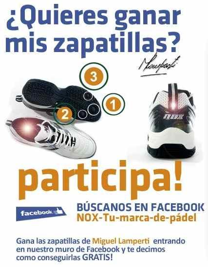 Gana las zapatillas de padel de Miguel Lamperti