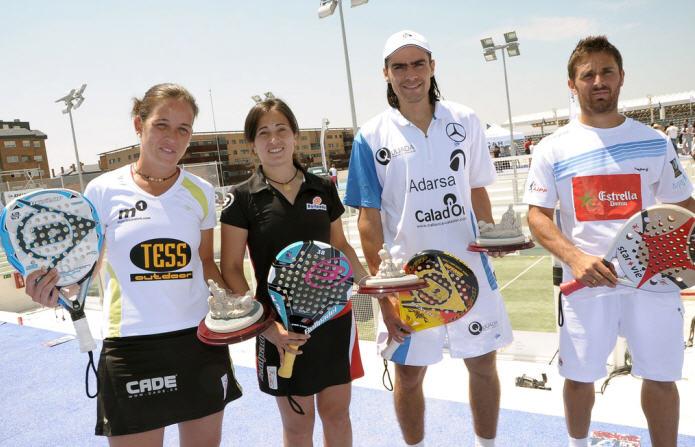 Ganadores del campeonato de padel absoluto de espana