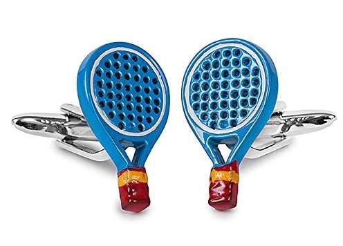 Gemelos Raqueta de pádel azul