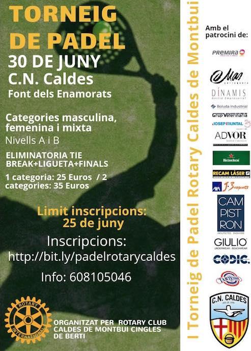 I Torneo de padel solidario Rotary Caldes de Montbui