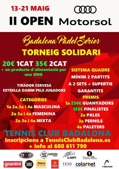 II Open Motorsol - Torneo solidario