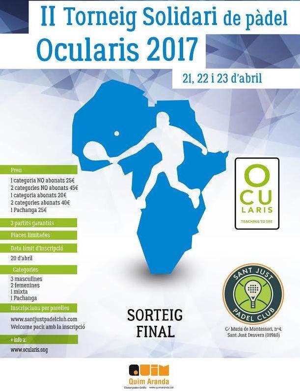 II torneo solidario de pádel Ocularis 2017