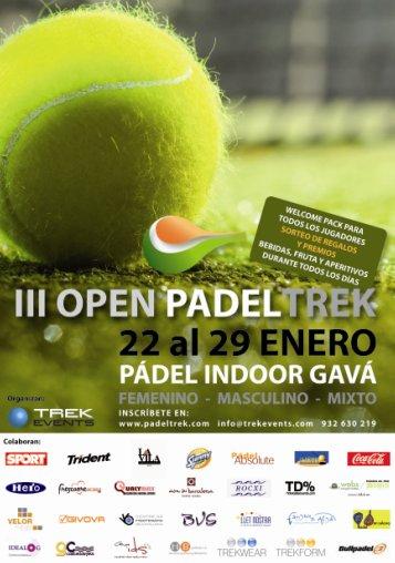 III Open Padeltrek en el Padel Indoor Gava