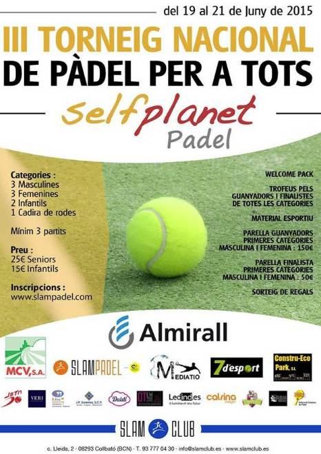 III torneo Nacional de Padel para todos en el SlamPadel